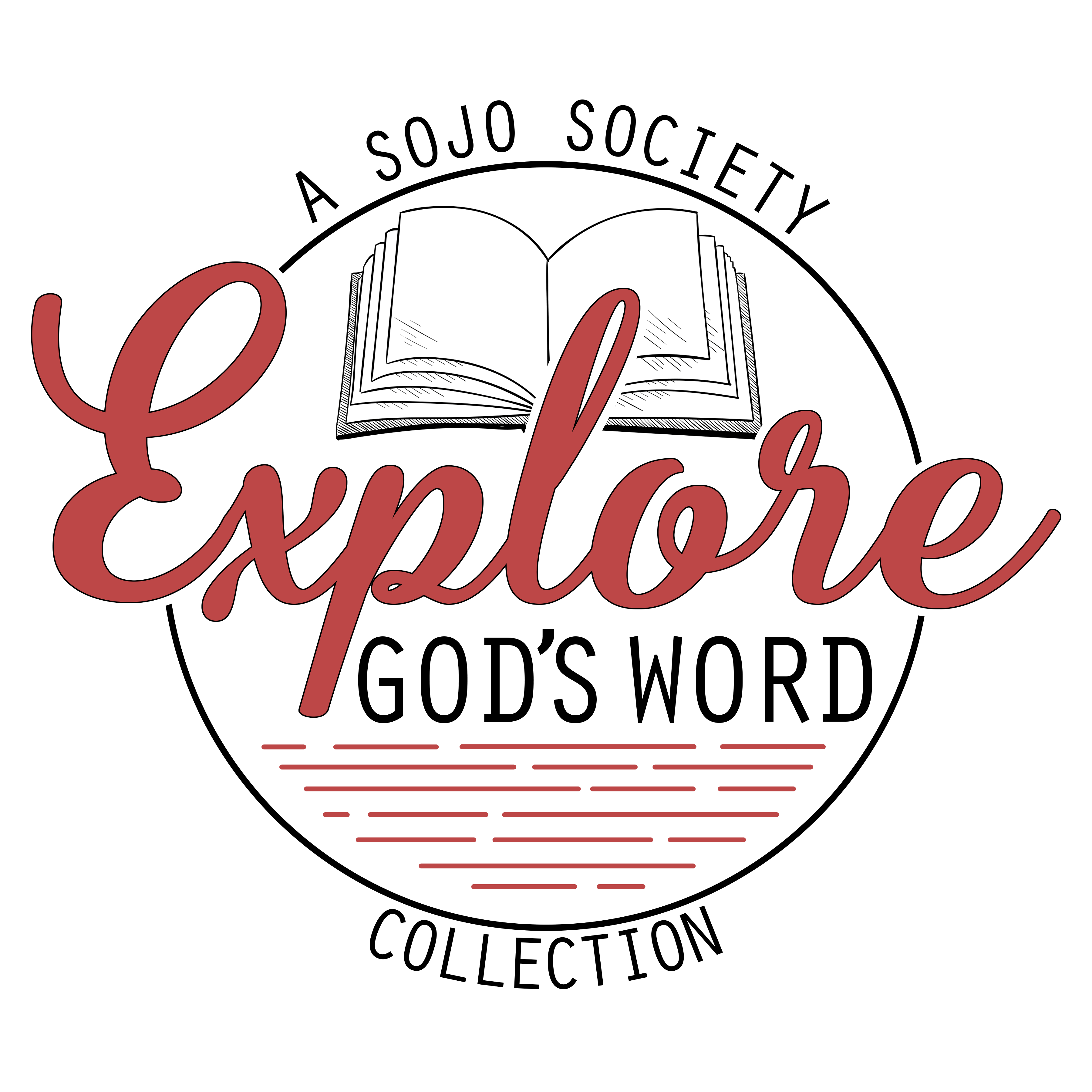 explore god's word red logo